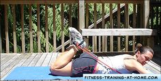 resistance band exercises for your hamstrings