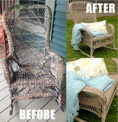 Yard Sale Wicker Rocker Makeover