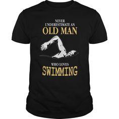 Old Man Swimming