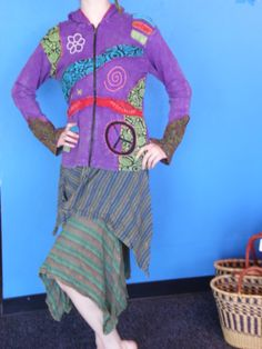 Gypsy Rose hoodie and skirt for your bohemian look