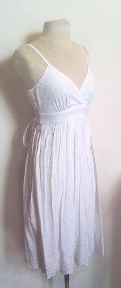 cotton eyelet dresses | white eyelet cotton dress | MY IMAGINARY CLOSET | Pinterest
