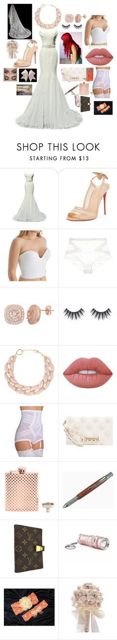 """""""Untitled #3"""" by gingersi ❤ liked on Polyvore featuring Christian Louboutin, Carnival, La Perla, DIANA BROUSSARD, Lime Crime, Rago, ZAC Zac Posen and Louis Vuitton"""
