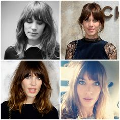 alexa chung // bangs with center-parted hair