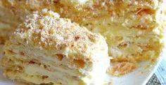 Home Napoleon - a recipe that never failed! Sweet Desserts, Sweet Recipes, Cake Recipes, Dessert Recipes, Ukrainian Recipes, Russian Recipes, Food Cakes, Tatyana's Everyday Food, Napoleon Cake