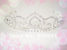 FREE SHIPPING Wholesale High Quality Peach Heart Design Bridal Wedding Crystal Tiara Crown Hair Jewelry-in Hair Jewelry from Jewelry on Aliexpress.com