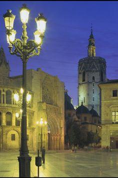 Valencia by  night  Spain