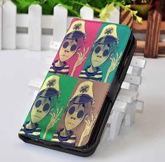 Gorillaz Band CUSTOM PERSONALIZED WALLET FOR IPHONE 4/4S 5 5S 5C 6 6 PLUS 7 CASE AND SAMSUNG GALAXY S3 S4 S5 S6 S7 CASE