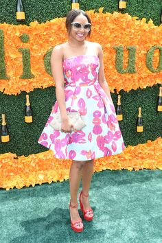 Alicia Quarles attends the Ninth Annual Veuve Clicquot Polo Classic at Liberty State Park on June 4, 2016 in Jersey City, New Jersey.