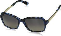 Kate Spade Women's Annjanette/s Polarized Rectangular Sunglasses, BLUE HVNA, 55 mm Kate Spade Designer, Kate Spade Sunglasses, Sunglasses Women, Blue, Store, Larger, Shop