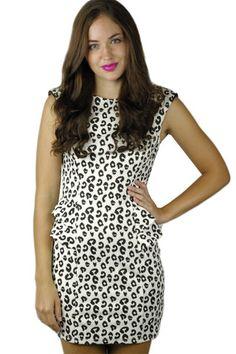 Lady Like Peplum Print Dress @Maude {Apparel, Home + Gift}