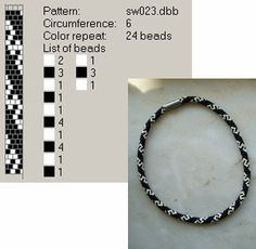 crafty jewelry: beaded jewelry - crafts ideas - crafts for kids Crochet Bracelet Pattern, Crochet Beaded Bracelets, Bead Crochet Patterns, Bead Crochet Rope, Peyote Patterns, Loom Bracelets, Bracelet Patterns, Beading Patterns, Beaded Crochet