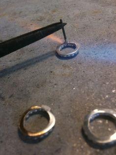 Soldering pins on earrings