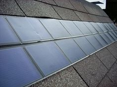 Solar shingles are exactly what they sound like: roof shingles that are made out of solar panel material and have the same power producing abilities as solar panels. http://www.greenerideal.com/alternative-energy/0501-solar-shingles-an-up-and-coming-solar-technology/