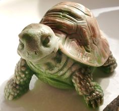 SOAP, Turtle Soap, Tanner the Turtle, Scented in Sage-Lemongrass, Handmade, Vegetable Based on Etsy, $8.00
