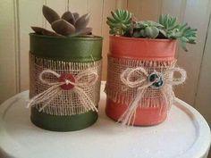 Artesanato: 20 ideias decorativas com latas Tin Can Crafts, Jar Crafts, Bottle Crafts, Home Crafts, Diy And Crafts, Arts And Crafts, Crafts With Tin Cans, Recycle Cans, Diy Cans