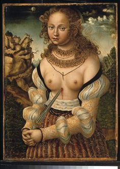 Lucas Cranach the Elder - The Suicide of Lucretia (1529)