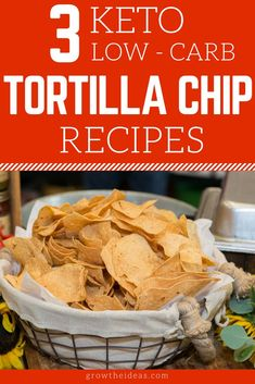 3 Keto Low-Carb Tortilla Chip Recipes: Get Your Chip Fix In A Snap! I know how difficult it can be looking for keto-friendly chips, so why not make your own and save the hassle buying? You'll love these low-carb tortilla chip recipes! Low Carb Tortilla Chips Recipe, No Carb Chips, Healthy Tortilla Chips, Lchf, Banting, Keto Friendly Chips, Low Carb Recipes, Healthy Recipes, Lunch Recipes