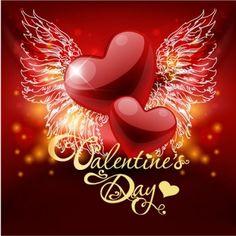 retro valentine39s day greeting card 02 vector