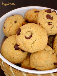 Eggless Chocolate Chip Cookies. When you are without eggs, make vegan cookies.