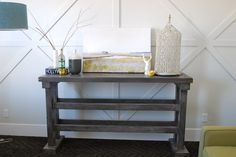 Tall sideboard table, living room