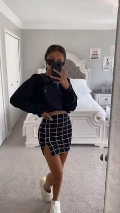Winter Fashion Outfits, Edgy Outfits, Cute Casual Outfits, Simple Outfits, Girl Outfits, Cute Skirt Outfits, Tomboy Fashion, Look Fashion, Look Boho