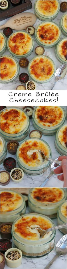 Creme Brûlée Cheesecakes! Easy No-Bake Individual White Chocolate Cheesecakes with an Easy Caramel Top making Creme Brûlée Cheesecakes that you will all love!