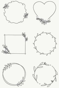 Bullet Journal Lettering Ideas, Bullet Journal Writing, Bullet Journal Ideas Pages, Bullet Journal Inspiration, Book Journal, Wreath Drawing, Journal Aesthetic, Lettering Tutorial, Embroidery Designs