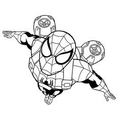 Printable Spiderman Coloring Pages, Easy and Fun. Superhero is identical with the boy so that many parents choose spiderman theme for their son. Captain America Coloring Pages, Avengers Coloring Pages, Spiderman Coloring, Cartoon Coloring Pages, Coloring Pages To Print, Printable Coloring Pages, Coloring Pages For Kids, Colouring Pages, Coloring Books