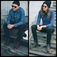 Black & Blue // Flannel Foxes Tomboy Fashion Blog