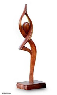 Wood statuette, 'Prayer' - Suar Wood Sculpture Your solitary amount relaxing it has the travel Art Sculpture En Bois, Abstract Sculpture, Sculpture Ideas, Metal Sculptures, Bronze Sculpture, Wood Carving Art, Wooden Art, Wood Crafts, Sculpting