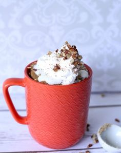 Microwave carrot cake. Get this and more tasty mug desserts here.