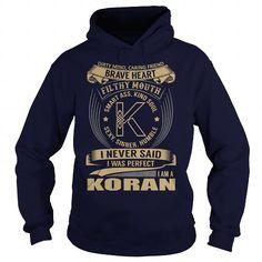 KORAN Last Name, Surname Tshirt