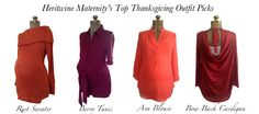 Heritwine Maternity- looking for something to wear for Thanksgiving? Check out our top picks. Order now and get it by Turkey Day! www.heritwinematernity.com #maternity #thanksgiving