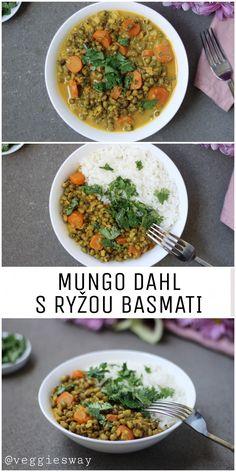 Vegánsky Mungo Dahl - Veggie´s Way Dahl, Curry, Veggies, Ethnic Recipes, Food, Curries, Vegetable Recipes, Vegetables, Essen