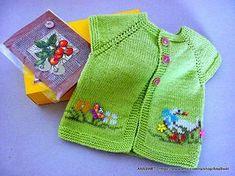 Baby knitting patterns.Knitted baby cardiganpattern от AnaSwet