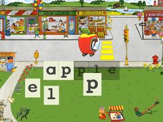 Words That Go with Richard Scarry's Busytown Cars ($1.99) Richard Scarry's delightfully wacky cars come to life in this interactive educational game for kids ages 2-6. When the Apple Car arrives at a Busytown stoplight, kids spell a-p-p-l-e to help it zoom through the intersection. With five playing modes, including letter matching, early phonics and spelling, this app grows with your child.
