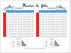 Hundir la flota (Rincondeunamaestra.blogspot.como.es) 2nd Grade Math, Brain Breaks, Conte, First Day Of School, Math Centers, Teaching English, Kids Gifts, Mathematics, Education