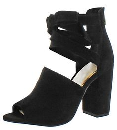 Jessica Simpson Kandiss Women's Open-Toe Block Heel Dress Shoes Size 8.5