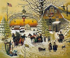 CHRISTMAS GREETING Charles Wysocki S/N SIgned Print Lithopgraph COA Folder MINT | eBay