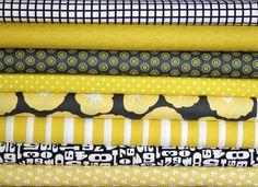 Please help me win this fat quarter bundle (citron and black)--misc. designers--8 pieces. Thank you!