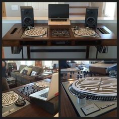 Custom DJ Table : Built for me with the help of Paul Thompson & Chris Sarine here in Chattanooga. It is BadASS! Fits my Rane 62 mixer and Technic 1200's perfectly with record wells on each side. The piece is call 'The Resident DJ' more pics can be found on Instagram under #theresidentdj
