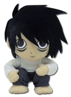 I GOT THIS DEATH NOTE L PLUSHIE IN THE MAIL TODAY AND IM SO HAPPY