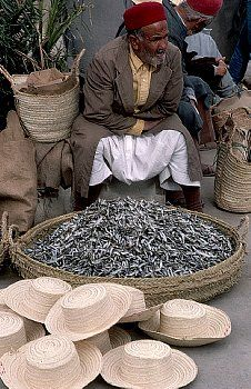 Dried Fish For Sale at Tunisian Market