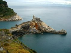 """Lord Byron's grotto in Portovenere """"Grotto Byron"""""""