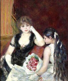 Pierre-Auguste RENOIR - La loge au Théâtre 1880 -                                                                                                                                                                                 Mais