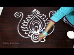 creative and beautiful freehand easy peacock rangoli designs Free Hand Rangoli Design, Small Rangoli Design, Rangoli Designs With Dots, Beautiful Rangoli Designs, Kolam Designs, Lotus Rangoli, Peacock Rangoli, Kolam Rangoli, Padi Kolam