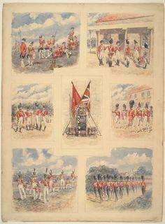 British; Scots Guards, 1760,1792, 1807, 1816, 1827 & 1833 by Reginald Augustus Wymer