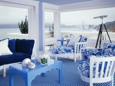 The Enchanted Home: coastal homes  Love the colors / contrast!