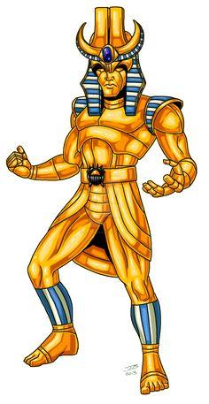 Golden Golem by ProdigyDuck on DeviantArt Marvel Art, Character Design Inspiration, Comic Books Art, Rogues, Super Powers, Cyberpunk, Character Art, Dc Comics, Deviantart