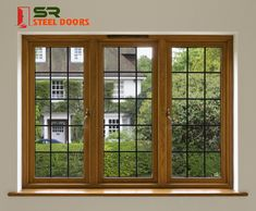 One of the leading company for steel doors exterior & steel windows suppliers in AP & Telangana. High-quality steel doors and windows for residential & commercial purpose House Window Design, Modern House Design, Sound Proofing Door, Steel Doors And Windows, Independent House, Home Room Design, Modern Windows, House Windows, House Rooms
